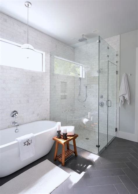 Walk In Showers For Small Bathrooms gorgeous bathroom with full height marble subway tile