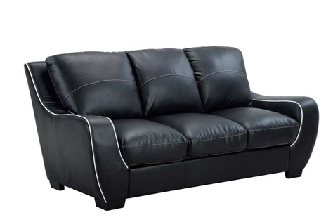 Vinyl Leather Sofa Global Furniture Usa 8080 Sofa Set Black White Bonded Leather With Vinyl Legs U8080 S Black