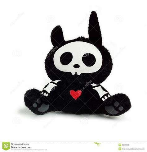 skeleton bunny toy royalty  stock  image