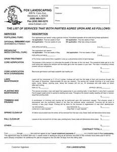 Landscaping Contract Template by Landscaping Contract Free Printable Documents