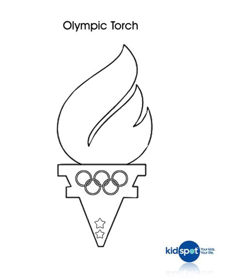 olympic torches colouring page olympics colouring pages