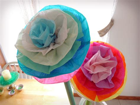 How To Make Big Flowers Out Of Tissue Paper - diy project designs