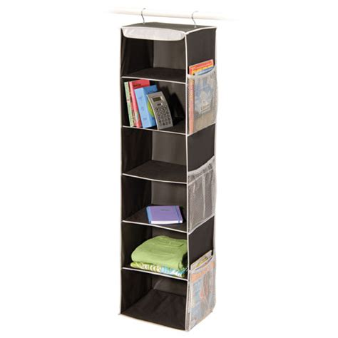 black denier six shelf closet organizer in closet