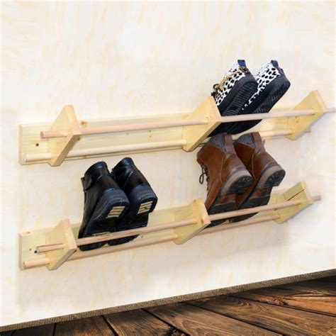 wall hung shoe storage wall mounted wooden shoe rack hanger shoe organizer custom