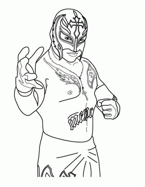 world wrestling entertainment wwe rey mysterio coloring