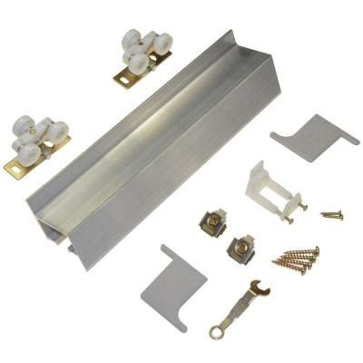 Johnson Barn Door Hardware Johnson Hardware 2610f Series 72 In Track And Hardware Set For Wall Mount Sliding Doors