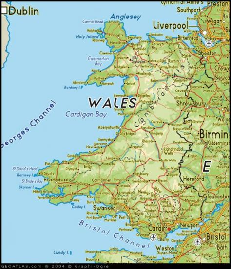 printable road map of wales uk wales driving tour