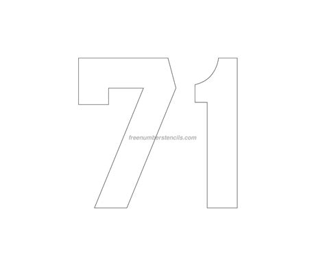 printable jersey number stencils free jersey printable 71 number stencil