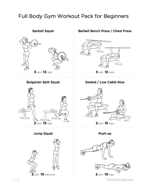 workout pack for beginners