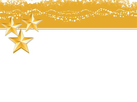 Christmas yellow Stars Backgrounds Powerpoint file   PPT