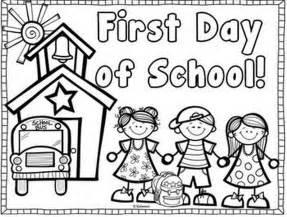 back to school coloring page day of school coloring book