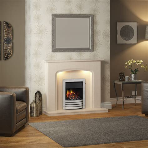 elgin siena marble fireplace suite fireplaces are us