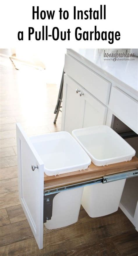 how to lay out a kitchen how to install a pull out garbage kitchens diy kitchen