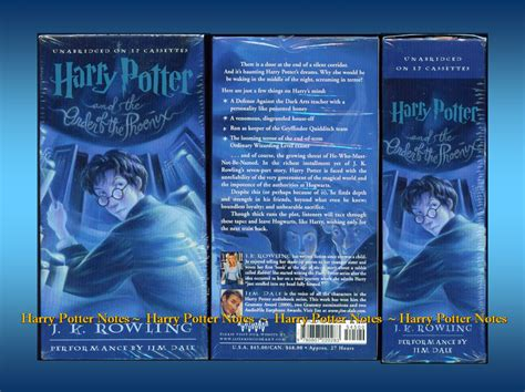 the of harry potter books audiobooks harry potter notes