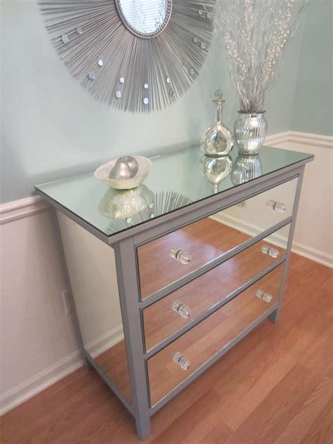 dresser and mirror set ikea mirrored dresser silver upcycled ikea 3 drawer mirror dresser