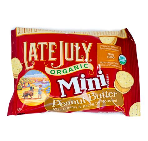 late july organic mini crackers peanut butter boston