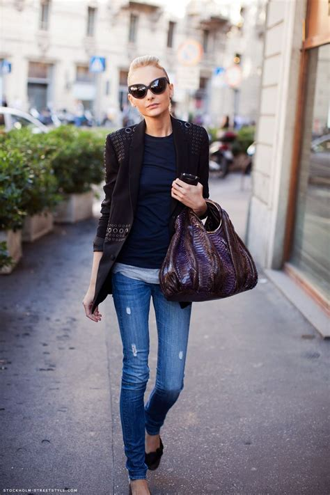 Boots jeans blazer blond hair sunglasses warm fashion cat eye