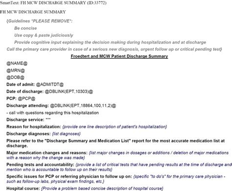 Surgery Discharge Summary Template pin discharge summary on