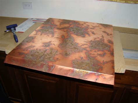 copper countertop brown hairs