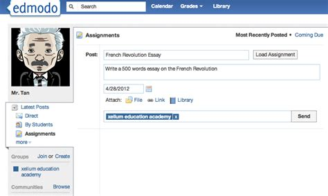 edmodo assignment tutorial edmodo as a learning environment colour my learning