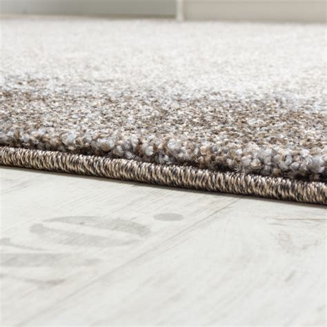 teppich 150x150 woven carpet modern high quality mottled with border in