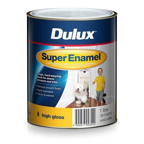 high gloss paint dulux super enamel 1l high gloss vivid white enamel paint