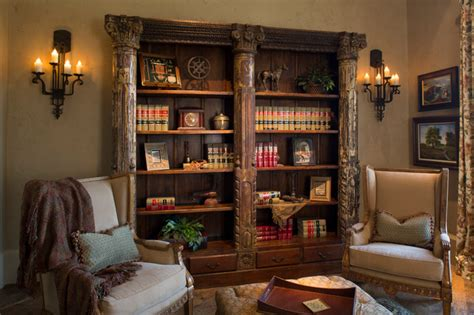 rustic lodge style home rustic living room houston