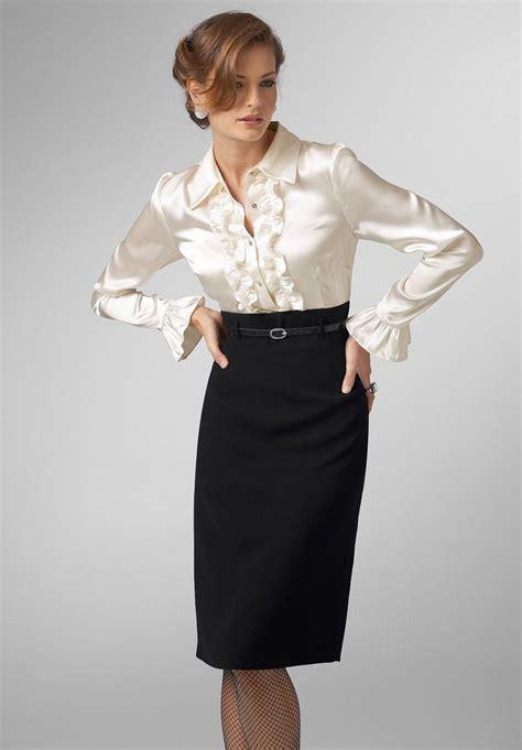 Ruffled satin blouse   Satin and silk blouses   Pinterest