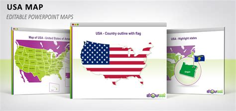 powerpoint map of usa free powerpoint maps of usa