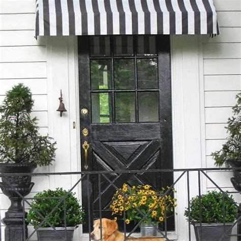 side door awning diy striped awning doors entry doors and diy and crafts