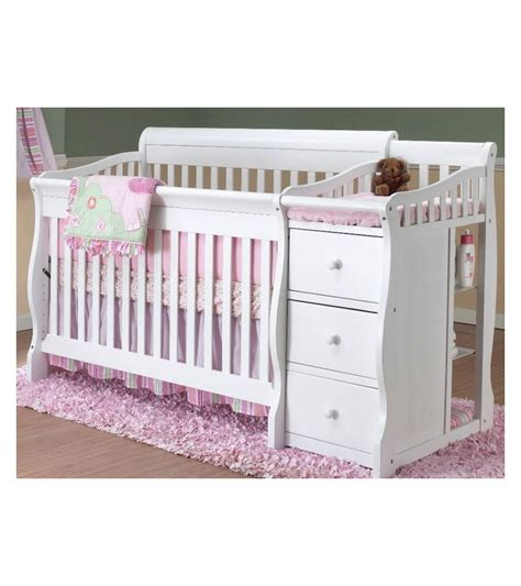 Baby Crib 4 In 1 Sorelle Tuscany 4 In 1 Convertible Crib Combo In White