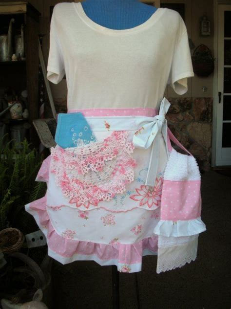 aprons half aprons shabby chic aprons cottage aprons