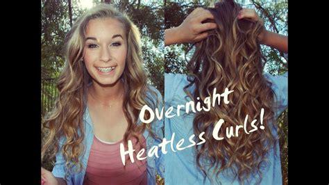 perfect heatless overnight curls youtube