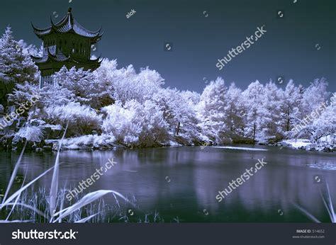 Landscape Photos Grainy Infrared Landscape 1 Japanese Garden In Montreal Canada