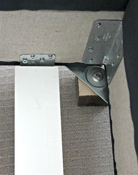 Bed Frame Corner Brackets Diy Upholstered Wing Bed