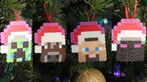 minecraft 8 bit christmas ornaments diy geeky goodies