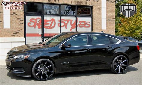 2014 chevy impala wheels chevrolet impala dub push s109 wheels gloss black milled