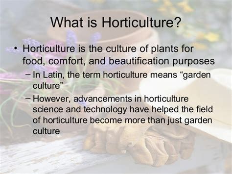 horticulture industry