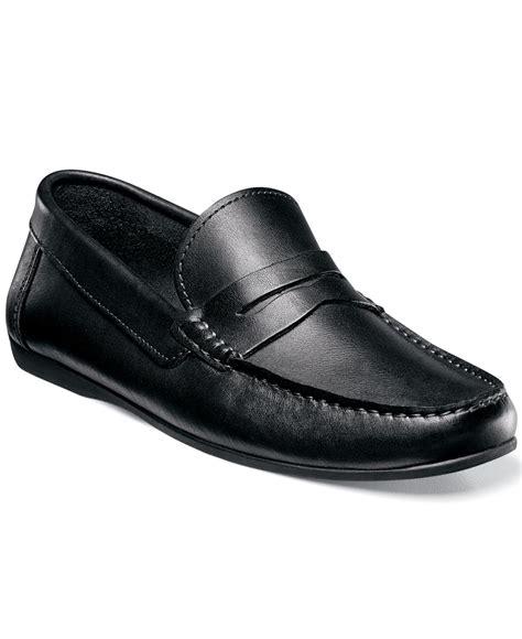 florsheim loafers florsheim jasper loafers in black for lyst