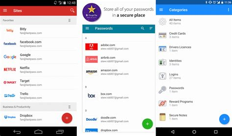 password manager android lastpass password manager for android top freeware