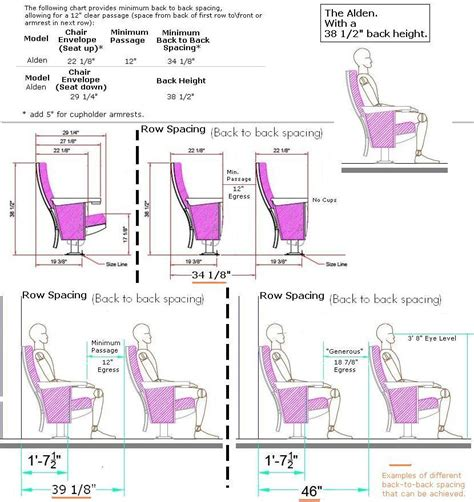 alden theater seating specification page auditorium