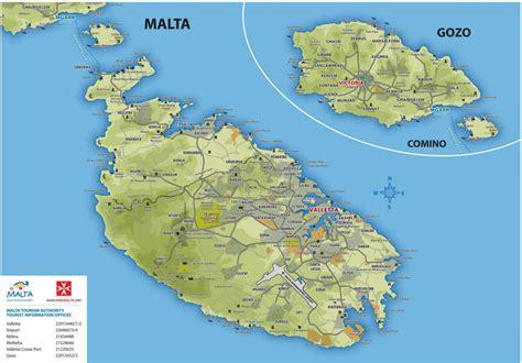 ufficio turismo malta le cartine di malta per orientarsi nell isola guida di malta
