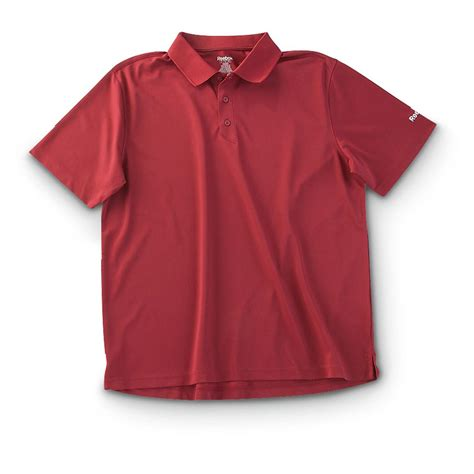 Tebok Polos reebok 174 performance polo shirt 293900 shirts at sportsman s guide