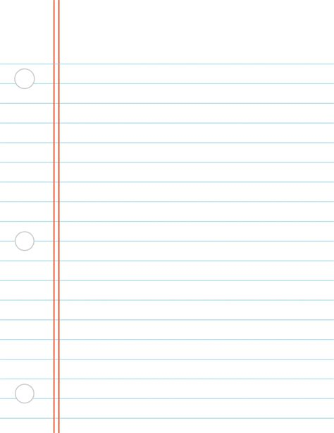 Printable Notebook Paper