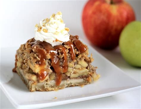 crumb topped apple pie bars butter   side  bread