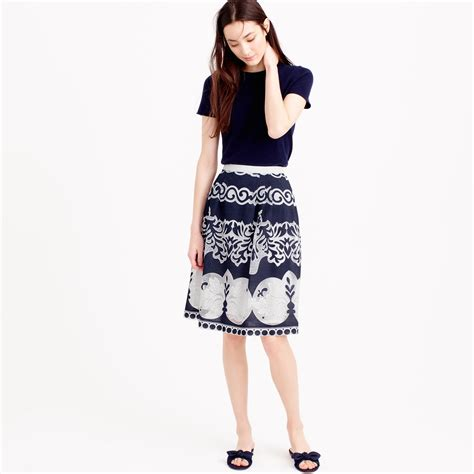 Bc Lace Midi Skirt Pink j crew midi skirt in ornate lace in white lyst