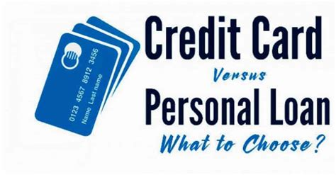 loan credit card personal loans vs credit cards which should you use