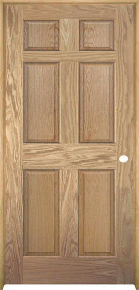 Oak Prehung Interior Doors Mastercraft Unfinished Oak 6 Panel Prehung Interior Door At Menards 174