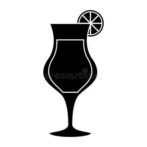 cocktail silhouette silhouette cocktail glass cup alcoholic beverage stock