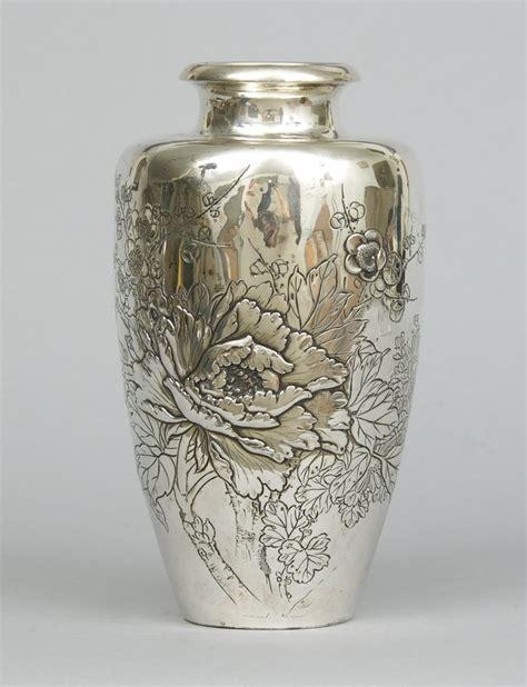 silver vase tree peonies in japanese art crickethillgarden